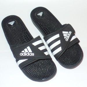 Adidas Black White Logo Slides 9